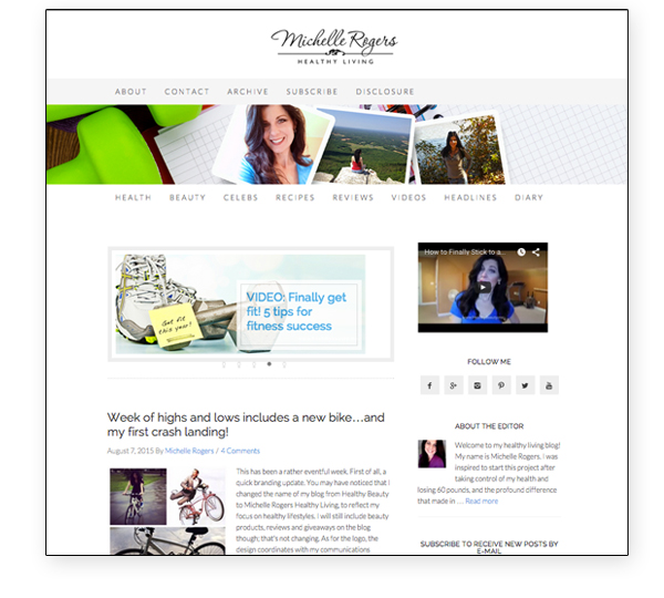 Website and blog design by Michelle Rogers