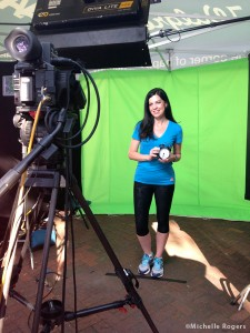 Filming a video clip for Walgreens on the healthy choices I make.