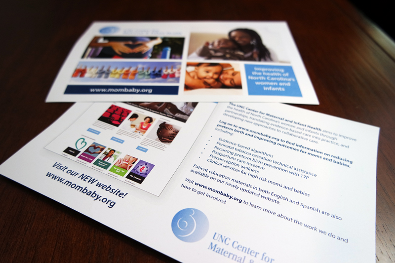 Postcard/handout promoting the Center's new website