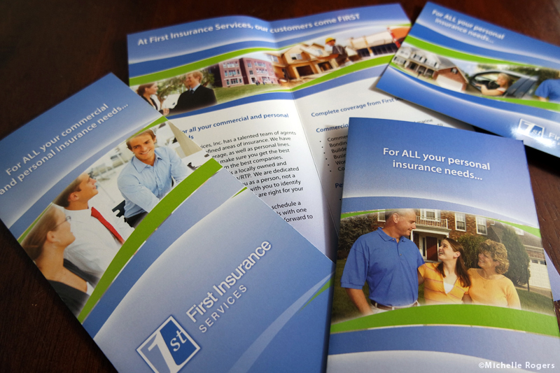 Brochure and postcard design by Michelle Rogers