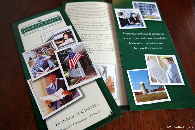 Brochure writing, design and printing by Michelle Rogers