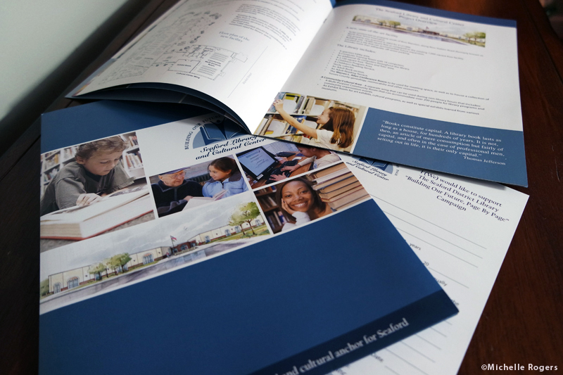 Brochure and folder design and printing by Michelle Rogers